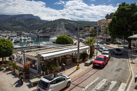 Soller, Spain - 26.05.2019:  view of Porte de Soller, Mallorca, Spain Editorial