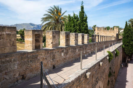 Fortress in the historical center of the old medieval town of Alcudia, Mallorca Spain