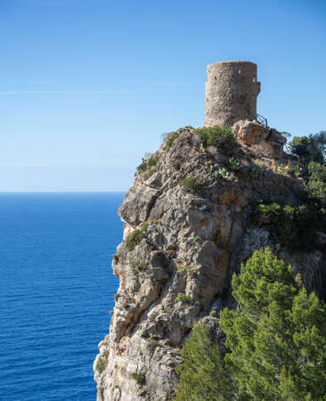 Old watchtower on the island of Mallorca in Spain