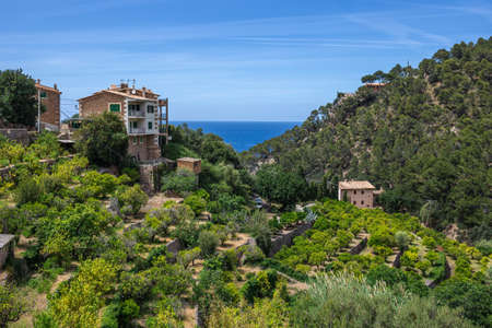 Old village in the mountains of Tramontana on the island of Mallorca