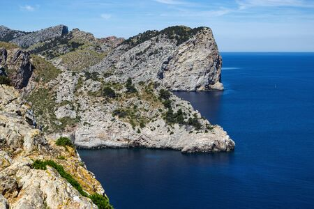 Scenic views of the famous Cape de Formentor, Mallorca Spain