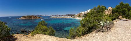Panorama of the beach Portals Nous of Mallorca, Spain
