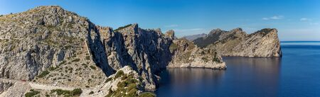 Panoramic view of  of the famous Cape de Formentor, Mallorca Spain