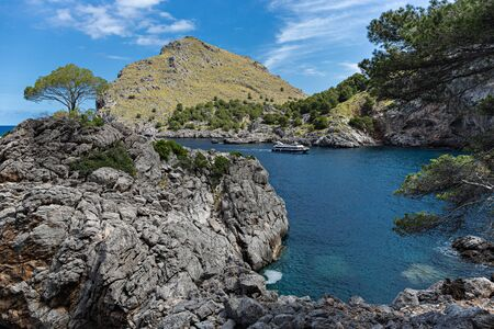 Seascape. North coast of the island of Mallorca, Spain Imagens