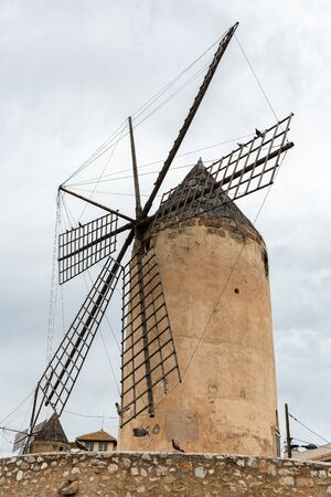 Old windmill in Palma de Mallorca, Spain