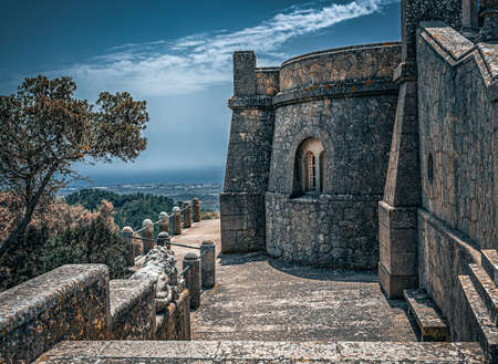 Santuari de Sant Salvador Monastery,  near Felanitx,  Mallorca, Balearic Islands, Spain.