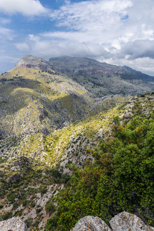 Sierra de Tramuntana, mountains on the island of Mallorca 版權商用圖片