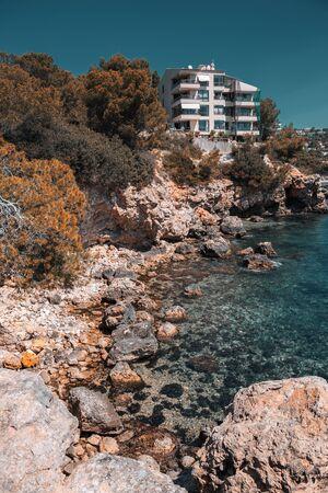 Landscape with rocky coast of Mallorca, Spain