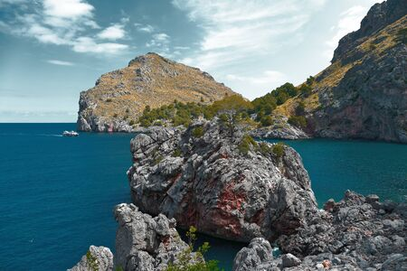 coast of the island of Mallorca, Spain 版權商用圖片