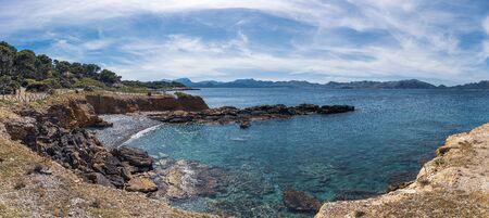 Playa de Olia public beach, Mallorca Spain 版權商用圖片