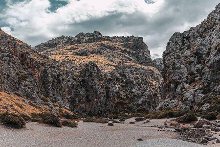 Canyon de la Calobra in the  island of Mallorca 版權商用圖片