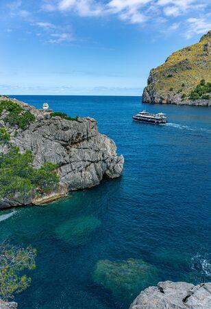 Seascape. North coast of the island of Mallorca, Spain 版權商用圖片
