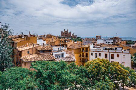 historic center of Palma de Mallorca, Spain 版權商用圖片