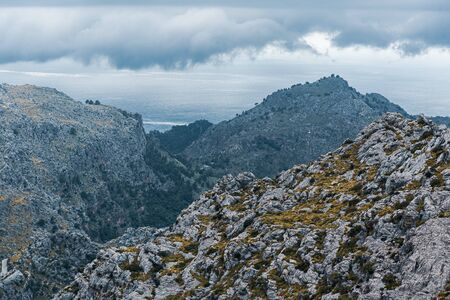 Picturesque landscape of Sierra de Tramuntana, Mallorca, Spain 版權商用圖片
