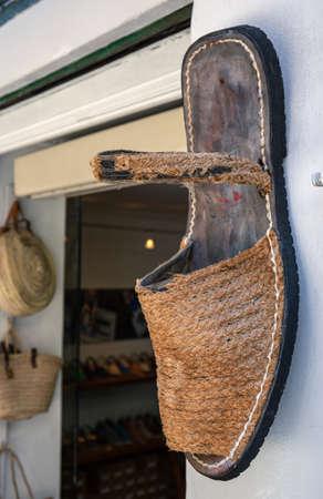 Palma de Mallorca, Spain - 01.06.19: The old Shoe store in center of Palma de Mallorca
