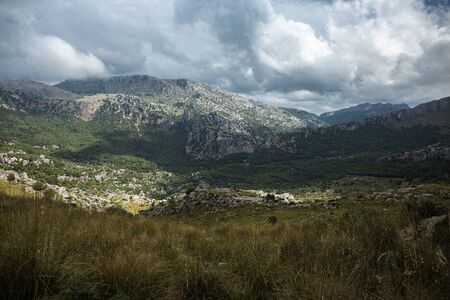 landscape in the mountains on the island of Mallorca