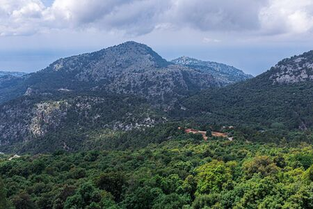 General view of the mountains on the island of Mallorca, Spain