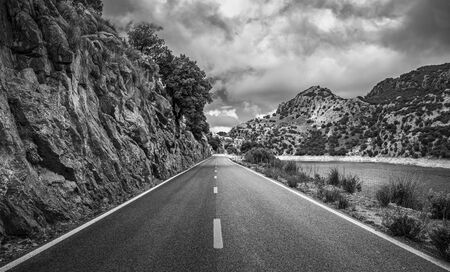highway in the Tramuntana mountains in Mallorca, Spain