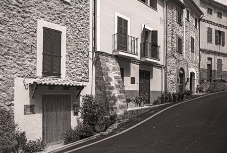 street in the old town of Banyalbufar, Spain