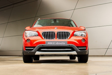 MUNICH - SEPTEMBER 19: New model BMW X1 at BMW Welt Expo center on September 19, 2012 in Munich