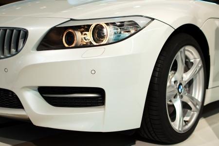 MUNICH - SEPTEMBER 19: New model BMW Z4 at BMW Welt Expo center on September 19, 2012 in Munich Editöryel