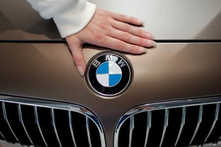 MUNICH - SEPTEMBER 19: New model BMW 640i at BMW Welt Expo center on September 19, 2012 in Munich Editöryel