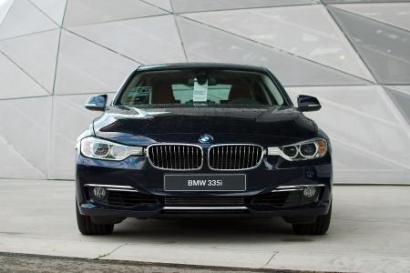 MUNICH - SEPTEMBER 19: New model BMW 335i at BMW Welt Expo center on September 19, 2012 in Munich