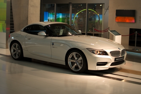 MUNICH - SEPTEMBER 19: New model BMW Z4 sDrive35is at BMW Welt Expo center on September 19, 2012 in Munich