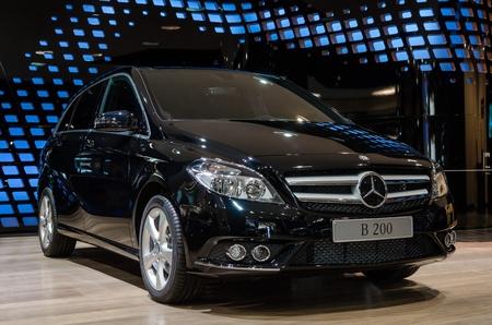 BERLIN - MARCH 16: New model Mercedes-Benz GLK Gel?ewagen at Mercedes-Benz Gallery on March 16, 2013 in Berlin