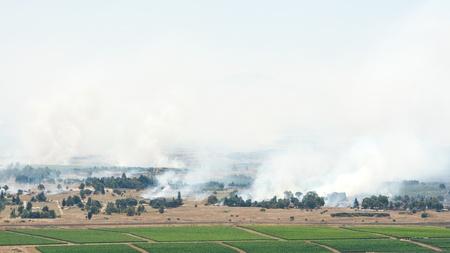 borderline: JUNE 06: Heavy fighting broke on ceasefire line in Golan Heights on June 06, 2013 in Golan Heights, Syrian Israeli borderline