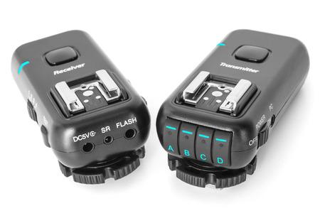 ttl: Studio flash lights remote multichannel radio control. Set of wireless trigger - transmitter and receiver.