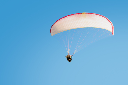 impressions: Adrenaline impressions and freedom feeling emotions paragliding tandem flights extremal active sport