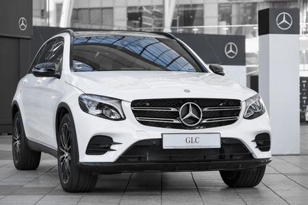 Munich, Germany - May 6, 2016: Modern model of prestigious Mercedes-Benz GLC-class SUV crossover.