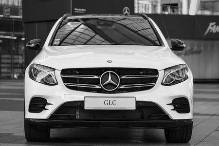 four classes: Munich, Germany - May 6, 2016: New model of elegant Mercedes-Benz GLC second generation crossover SUV.