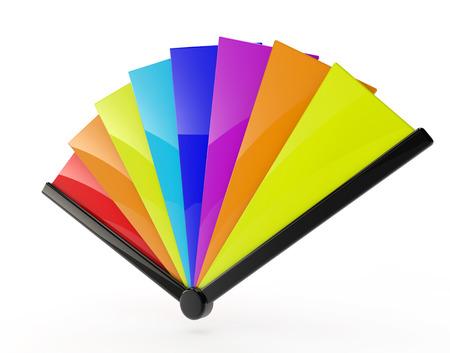 multi colour: FAN color multi Foto de archivo