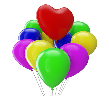 Heart Balloon with balloons photo