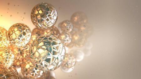 glass spheres Stock Photo