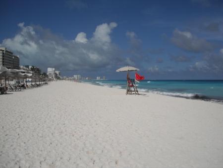 roo: Cancún Beach, Quintana Roo, México Stock Photo