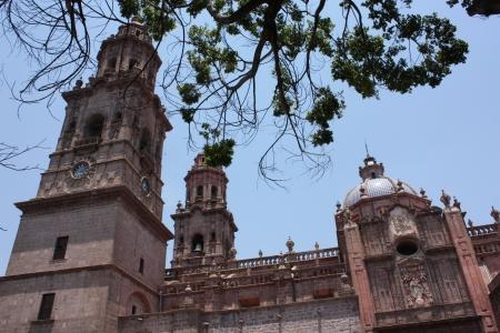 morelos: Catedral de Morelia  Morelia Cathedral, Morelia, Michoacan, Mexico