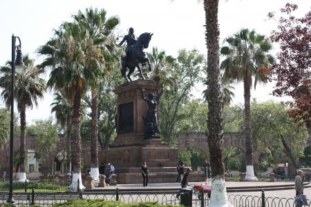 morelos: Jose Maria Morelos y Pavon Monument, Morelia, Michoacan, Mexico  Stock Photo