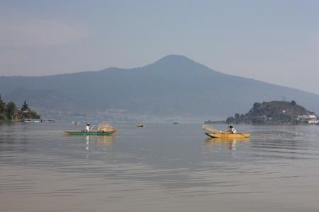 Fisherman Patzcuaro Lake, Janitzio, Patzcuaro, Michoacan, Mexico