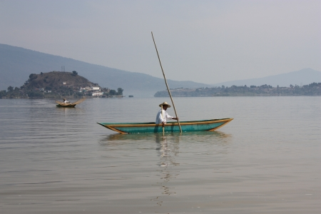 morelos: Fisherman Patzcuaro Lake, Janitzio, Patzcuaro, Michoacan, Mexico