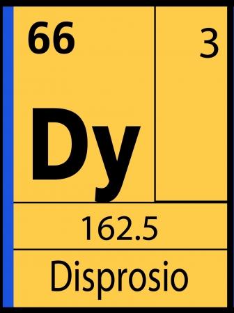 Disprosio, periodic table Ilustração