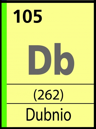 atomic symbol: Dubnio, periodic table