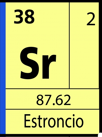 graphic flerovium: Estroncio, periodic table