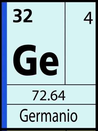 Germanio, periodic table Ilustração