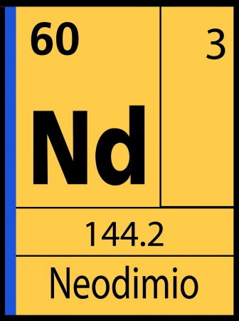 atomic symbol: Neodimio, periodic table