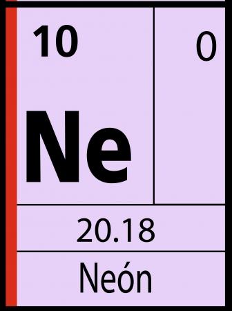 graphic flerovium: Neon, periodic table Illustration