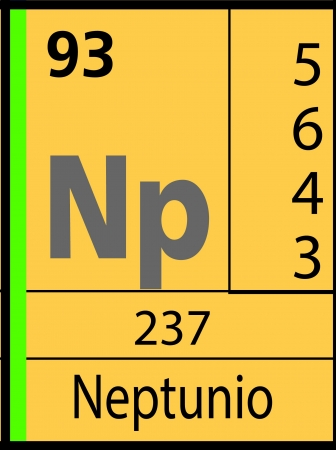 Neptuno, periodic table Vector