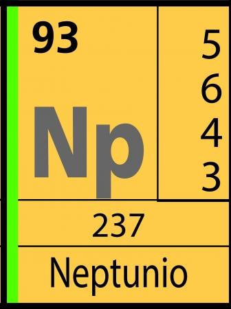 Neptuno, periodic table Ilustração